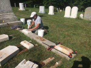 Repairing gravestones